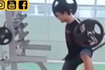 Bro does squats and shadow boxes.